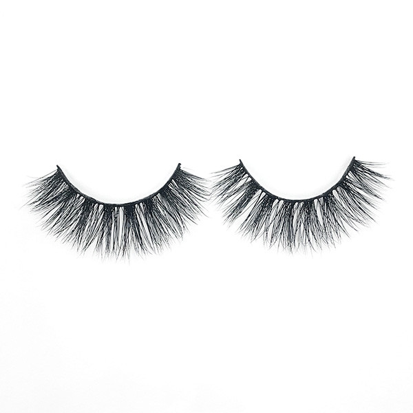 Dramatic Best Fake False 3D Real Mink Fur Eyelashes  With Eyebrow Tweezers