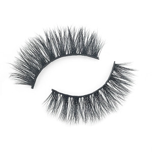 Dramatic Best Fake False 3D Real Mink Fur Eyelashes  With Eyebrow Tweezers