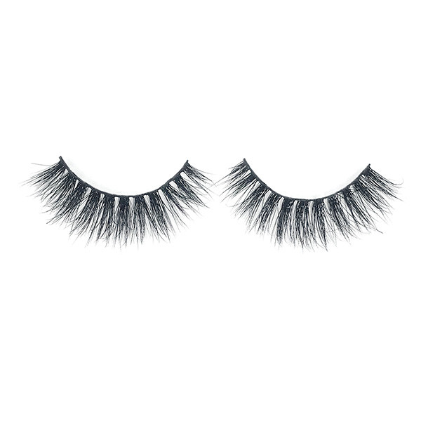Cruelty Free Curly 3D Strip Wispy Mink Eyelashes With Free Applicator