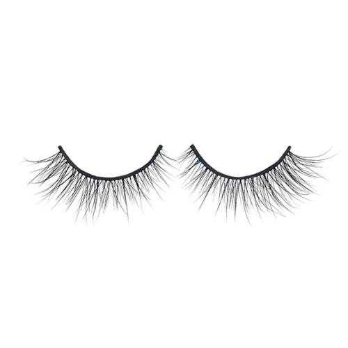 Qingdao Strip Eyelashes 100% 3D Mink Eyelashes Vendor y caja personalizada