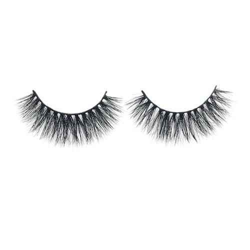 Maquillaje Full Mink 3D Strip Fluffy Eyelashes Packaging para pestañas