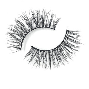 No Label  Wholesale 3D Mink Human Hair Lashes Eyelashes China Packing Box For Eyelash