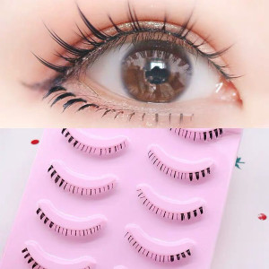 Various Different Design Mixed Style Black Fake 100% Handmade Thick Natural Soft Bottom Strip Lashes