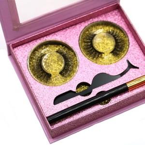 High quality Upgraded Waterproof Magnetic False Eyelashes with Magnetic Liquid Eyeliner Set-No Glue