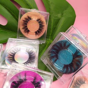Oem Messy Private Label Mink Eyelashes With Free Eyelashes Tweezer