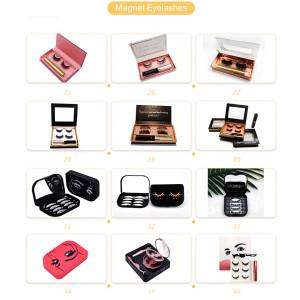 Custom Logo Glitter Diamond Eyelash Packaging Rectangle Lashes Bling Lash Case Colorful Diamond Eyelash Vendor Customized Boxes