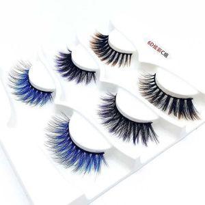 Colorful eyelashes real mink lashes wholesale vendor mink lash set custom package private label factory vendor false eyelash box