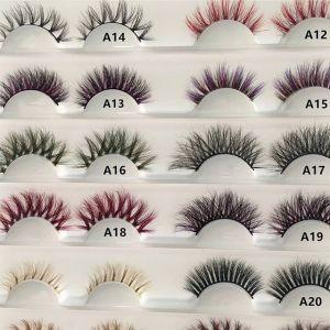 colorful eyelashes 3d mink lashes new style rhinestone box custom package private label factory vendor false eyelash box