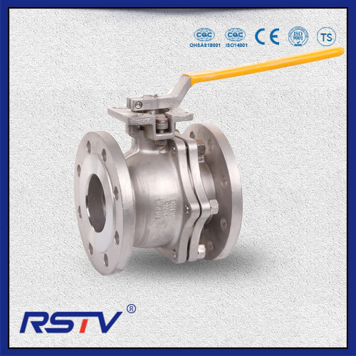DIN F4/F5 Two Piece Flanged Floating Ball Valve