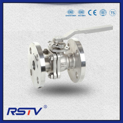 Two Piece JIS10K Floating Flanged ends Ball Valve