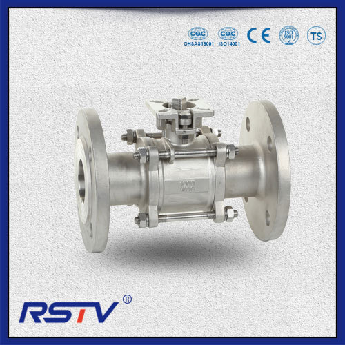 3PC Full Port Flanged ends Floating Stainless Steel Ball Valve
