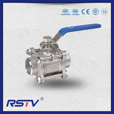 3PC Stainless Steel 1000WOG Welded ends Ball Valve