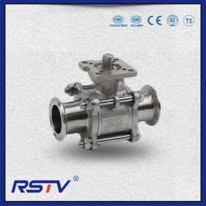 3PC Floating type SS304/SS316 Clamp ends Ball Valve