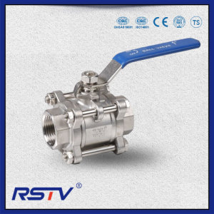 3PC PTFE Seal Stainless Steel 1000WOG Threaded ends Ball Valve
