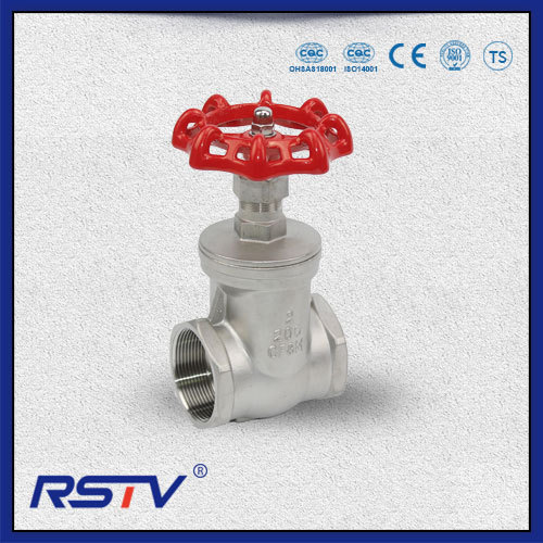 Threaded ends 200PSI Stainless Steel Gate Valve