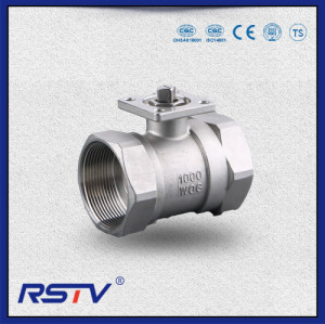 1PC Forged Steel Floating Screwed ends Reduce Port Ball Valve