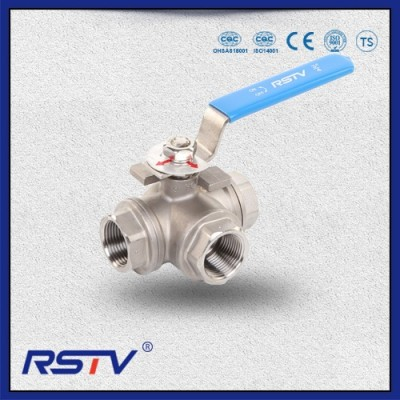 3 Way T/L Port Stainless Steel Floating Ball Valve