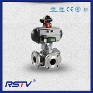 Three Way Flange T/L Port Ball Valve