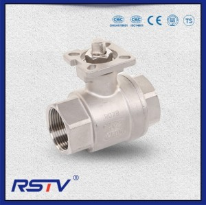 2PC Stainless Steel Threaded Floating Full Port Ball Valve (Q11F)