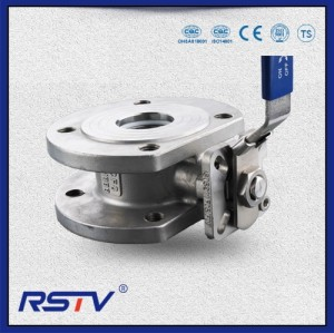 Italian Wafer Type Reduce Port Stainless Steel Flanged ends Ball Valve