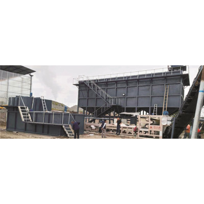 Split type concentrated sludge filter press dewatering machine sand recycling device