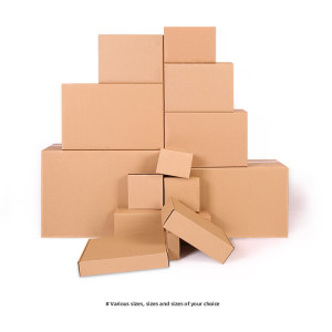 Wholesale Custom print logo Kraft Corrugated cardboard packaging carton box