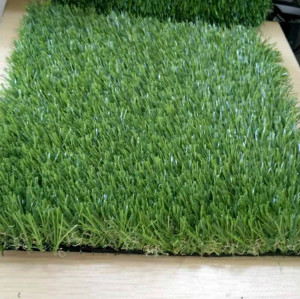 W shape yarn artificial lawn for graden