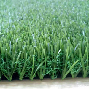 High density artificial lawn with 3 tones for landscaping