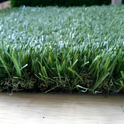 S shape good quality synthetic grass for landscaping and recreation