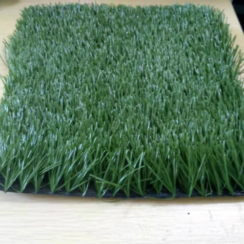 Green synthetic grass for football field