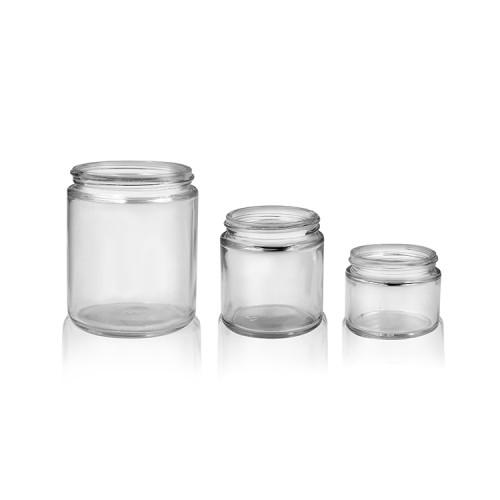 Tarro cosmético de cristal