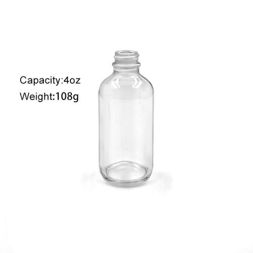 Boston Round Bottle with black poly cap