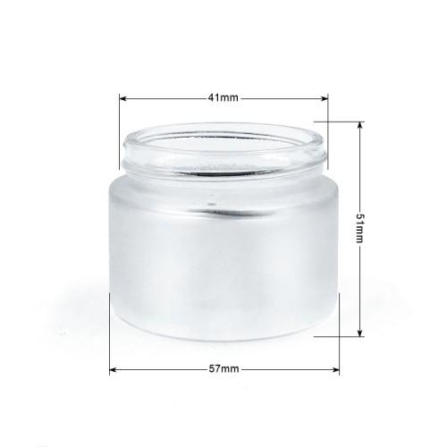 Frasco cosmético de vidrio fundido reciclado
