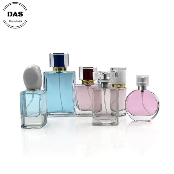 Botella de perfume de cristal de lujo