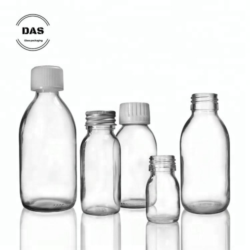 Syrup Bottle with white medilock cap