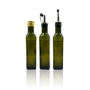 Olive oil glass bottle