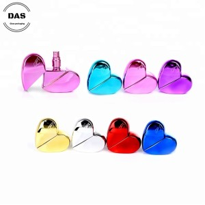 Heart shaped glass perfume bottles