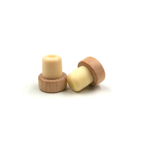 Forma de T corchos de vino sintéticos para botella de licor.