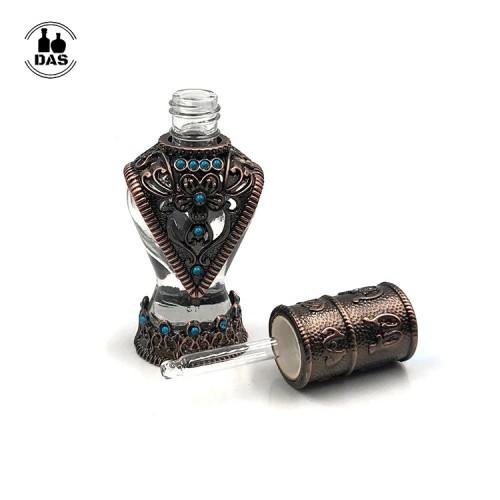 Botella de perfume de cristal de Attar de aceite esencial