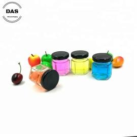 Hexagon Mini Glass Jam Jar