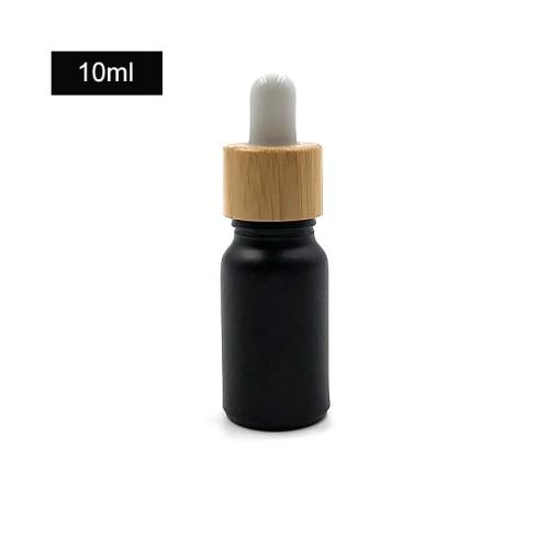 Botellas de aceite esencial de vidrio negro