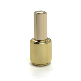 15ml empty nail polish bottle with brush and gold cap