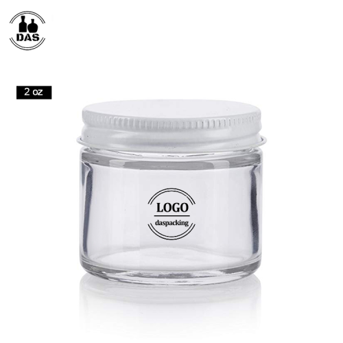Cosmetic Jar with White Metal Airtight Lid