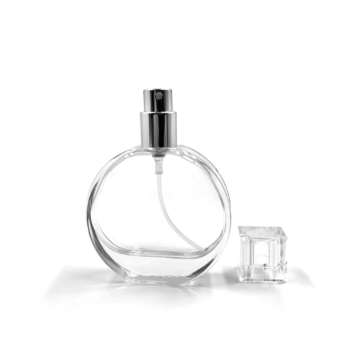 Small Perfume Glass Bottle with spray lid