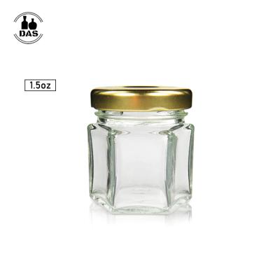 Mini vaso de miel de hexágono