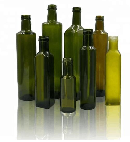 Botella de vidrio de aceite de oliva
