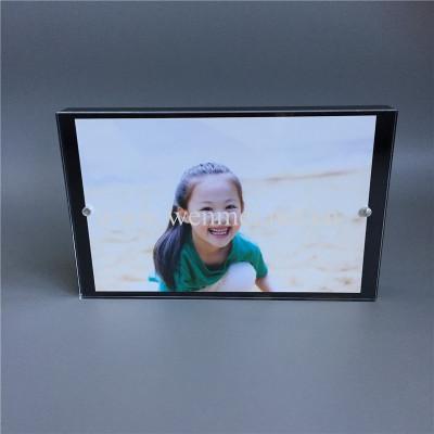 customized frameless clear acrylic photo frame wholesale