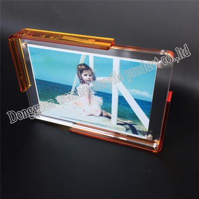 2019 customized frameless acrylic photo frame wholesale