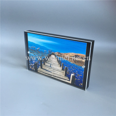 New Style Hot Sell Frameless Acrylic Photo Frame with Magnets