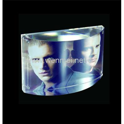 Hot Sale Customized Clear Frameless Acrylic Magnetic Photo Frame